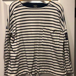 Navy Striped Coach x Saint James ¾ shirt